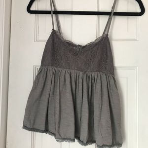 Grey babydoll top